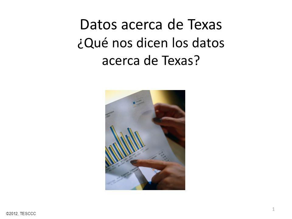 Datos acerca de Texas ¿Qué nos dicen los datos acerca de Texas? 1 ©2012, TESCCC
