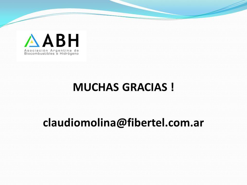 MUCHAS GRACIAS ! claudiomolina@fibertel.com.ar