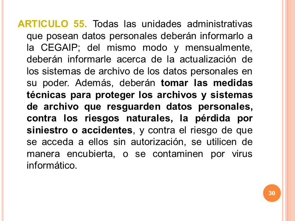 30 ARTICULO 55.