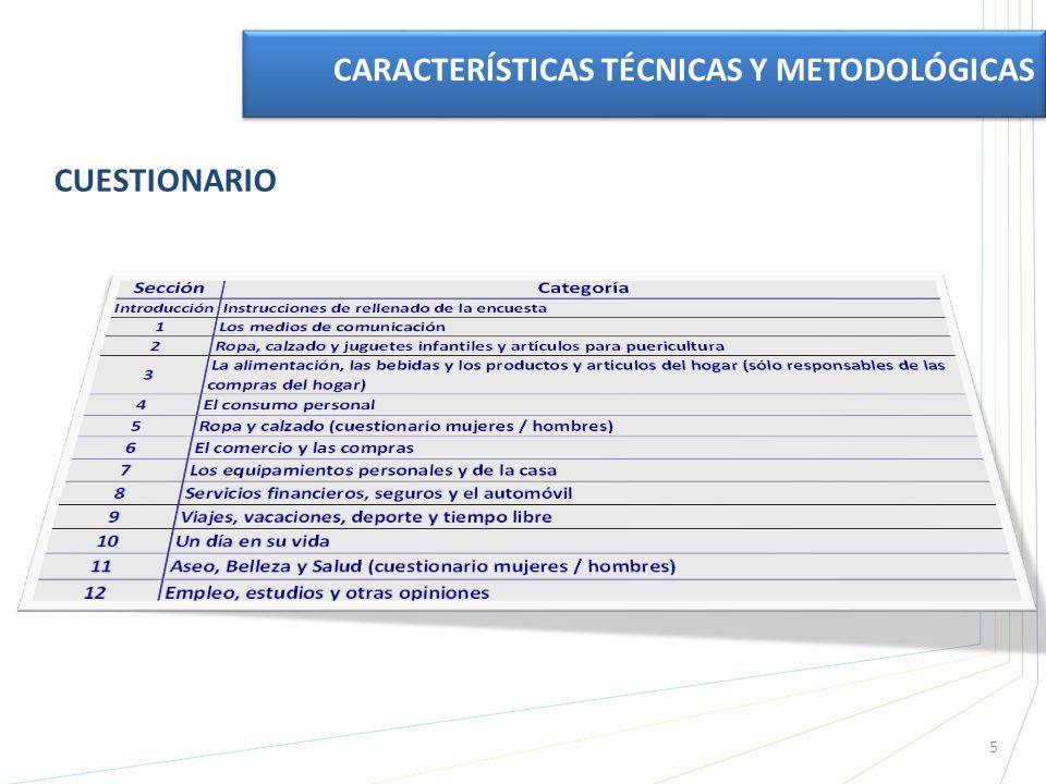 CUESTIONARIO CARACTERÍSTICAS TÉCNICAS Y METODOLÓGICAS 5
