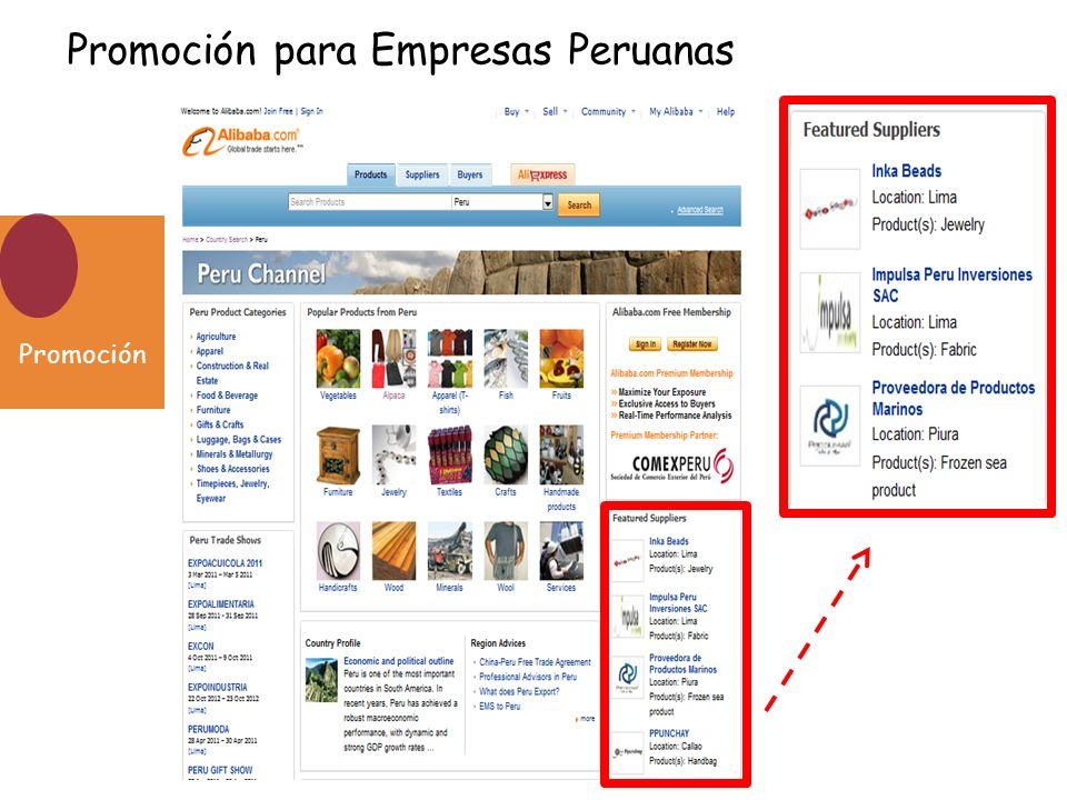 Promoción Promoción para Empresas Peruanas