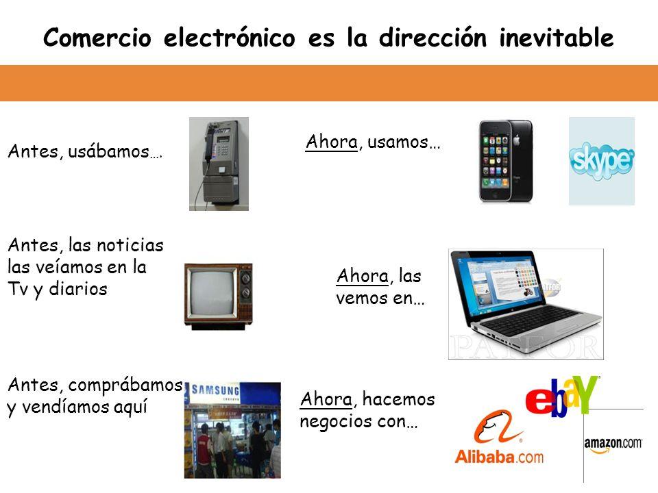 Comercio electrónico es la dirección inevitable Antes, usábamos ….
