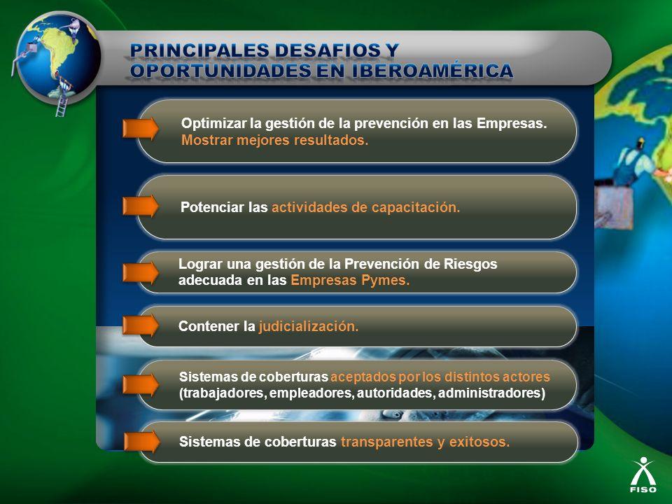 Sistemas de coberturas aceptados por los distintos actores (trabajadores, empleadores, autoridades, administradores) Contener la judicialización. Logr