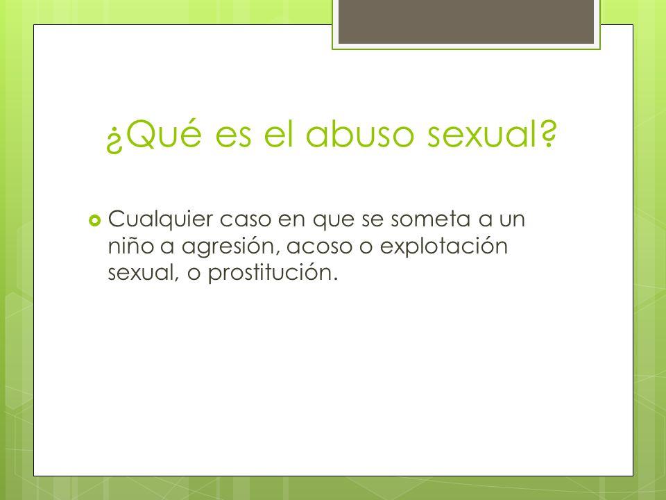 ¿Qué es el abuso sexual.
