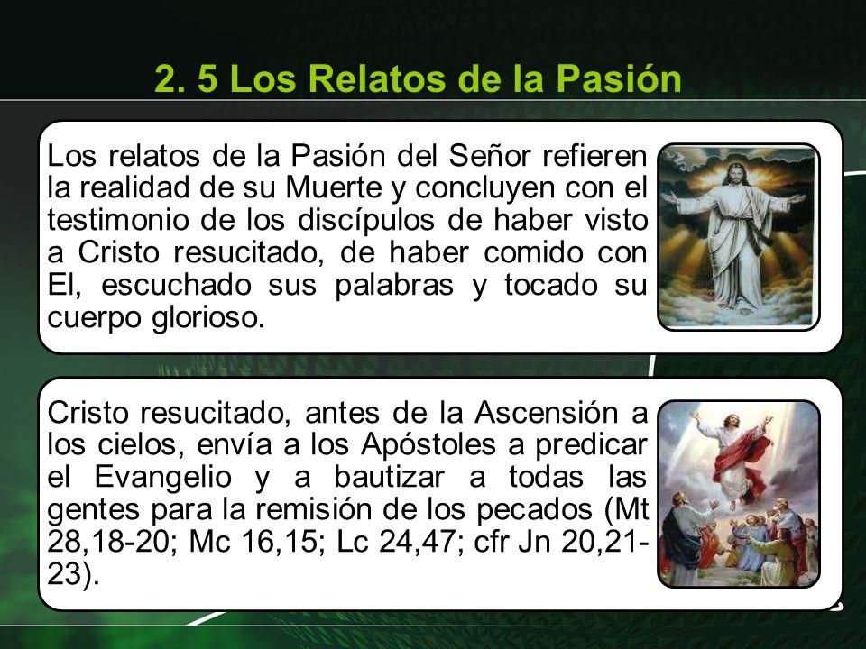 Los relatos de la Pasión del Señor refieren la realidad de su Muerte y concluyen con el testimonio de los discípulos de haber visto a Cristo resucitad