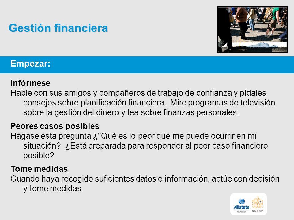 Empezar: Infórmese Hable con sus amigos y compañeros de trabajo de confianza y pídales consejos sobre planificación financiera.