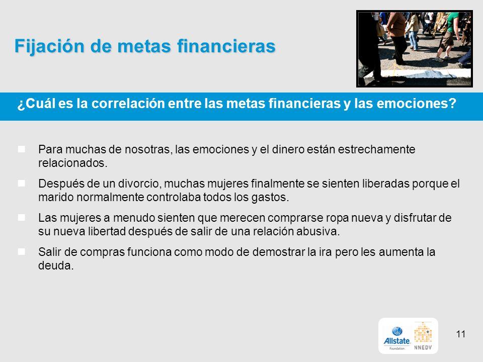 Fijación de metas financieras ¿Cuál es la correlación entre las metas financieras y las emociones.