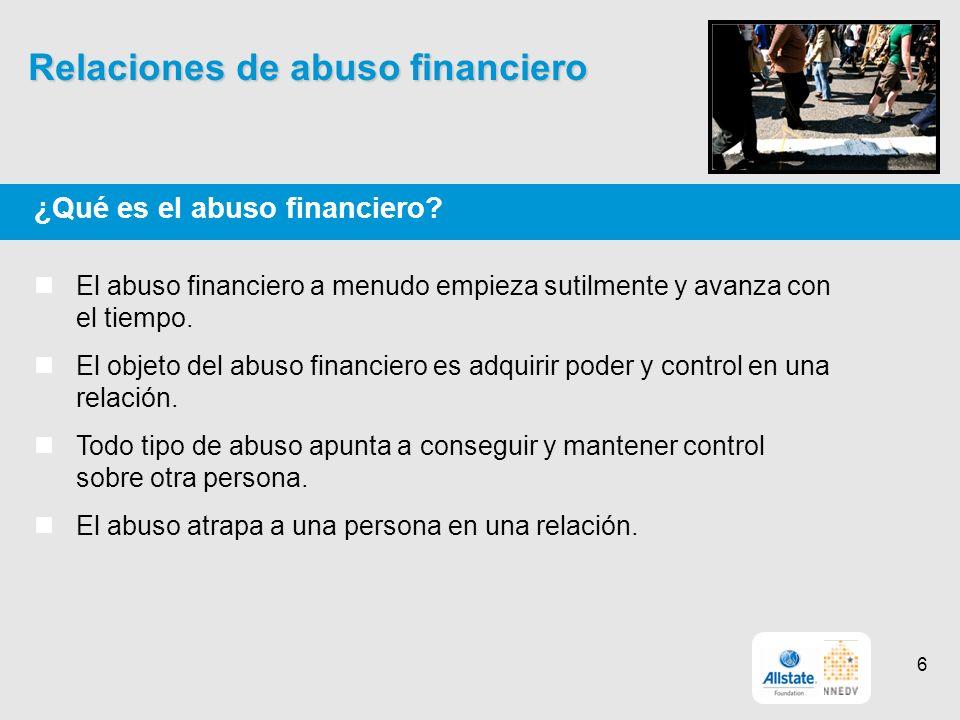 Relaciones de abuso financiero ¿Qué es el abuso financiero.
