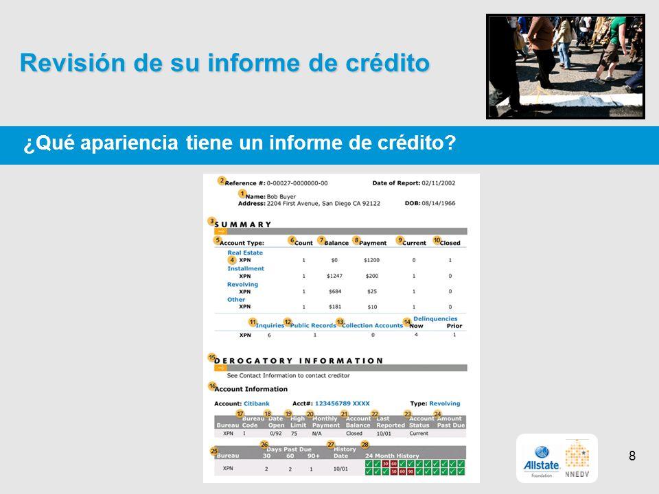 Revisión de su informe de crédito ¿Qué apariencia tiene un informe de crédito? 8