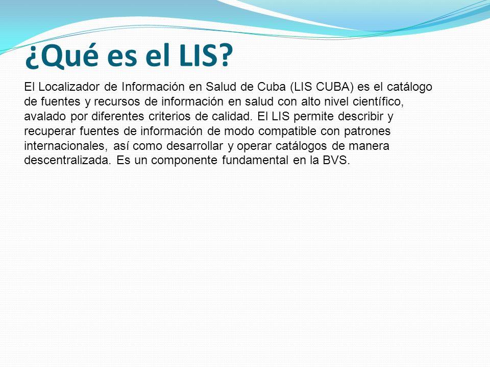 ¿Qué es el LIS.