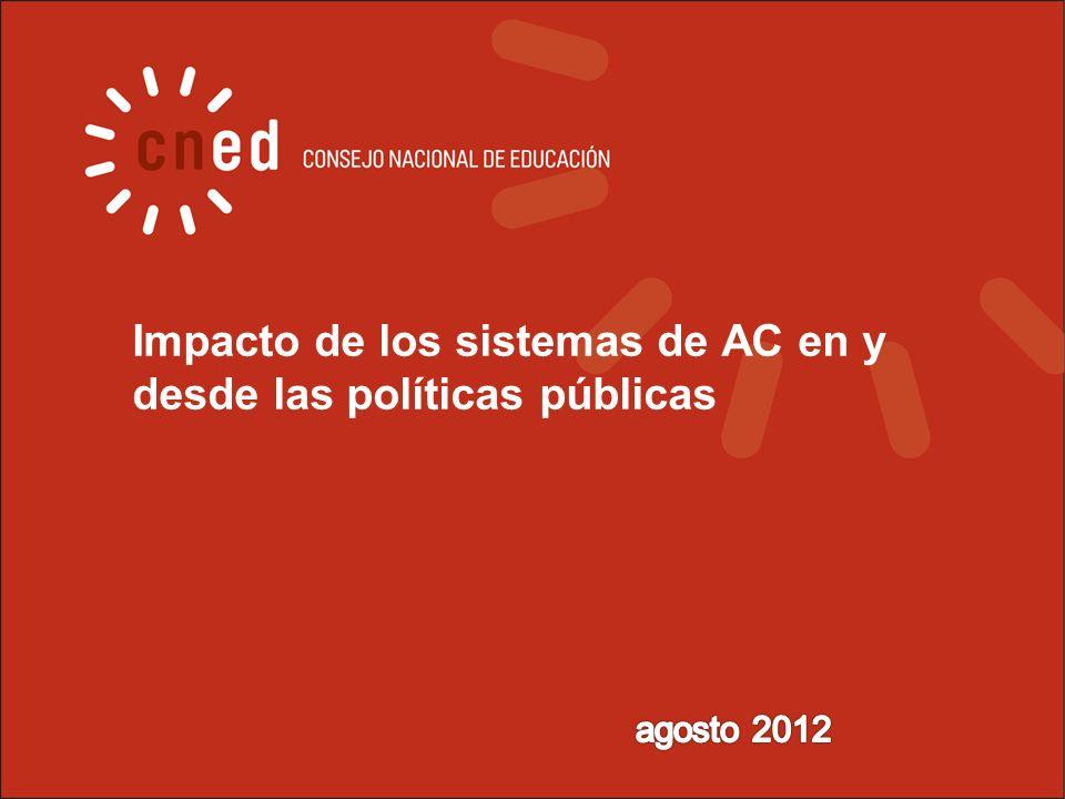 Impacto de los sistemas de AC en y desde las políticas públicas