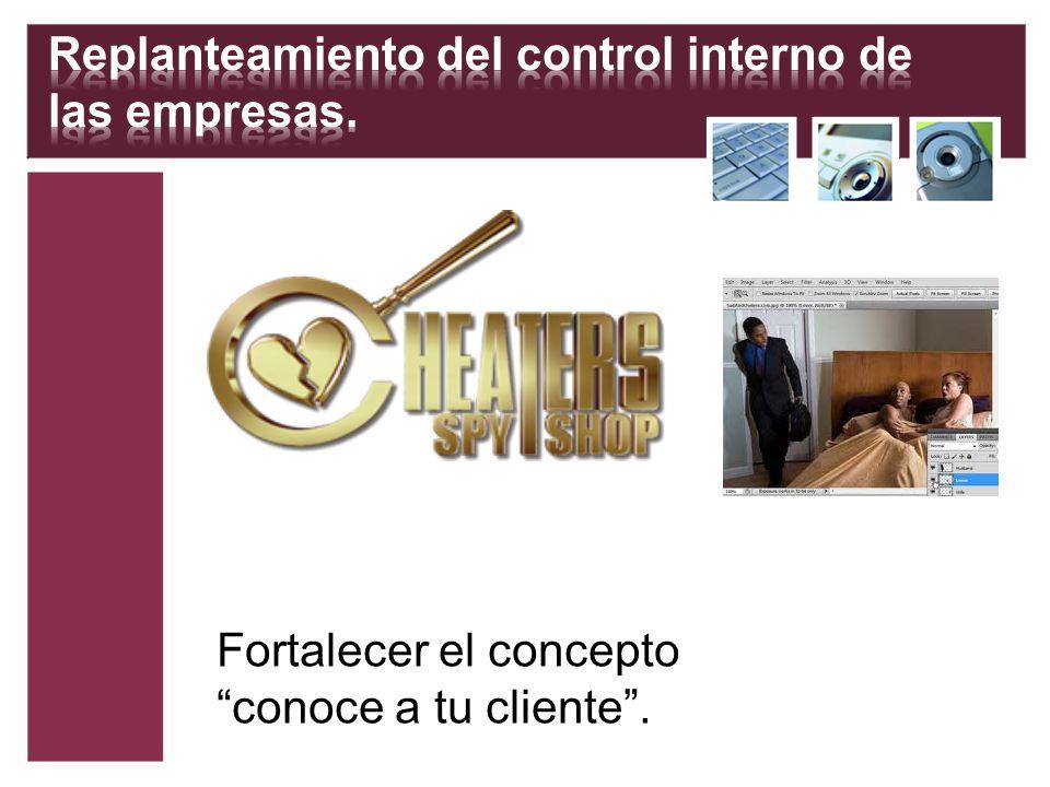 Fortalecer el concepto conoce a tu cliente.