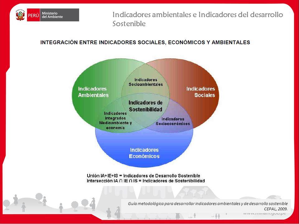 Guía metodológica para desarrollar indicadores ambientales y de desarrollo sostenible CEPAL, 2009.