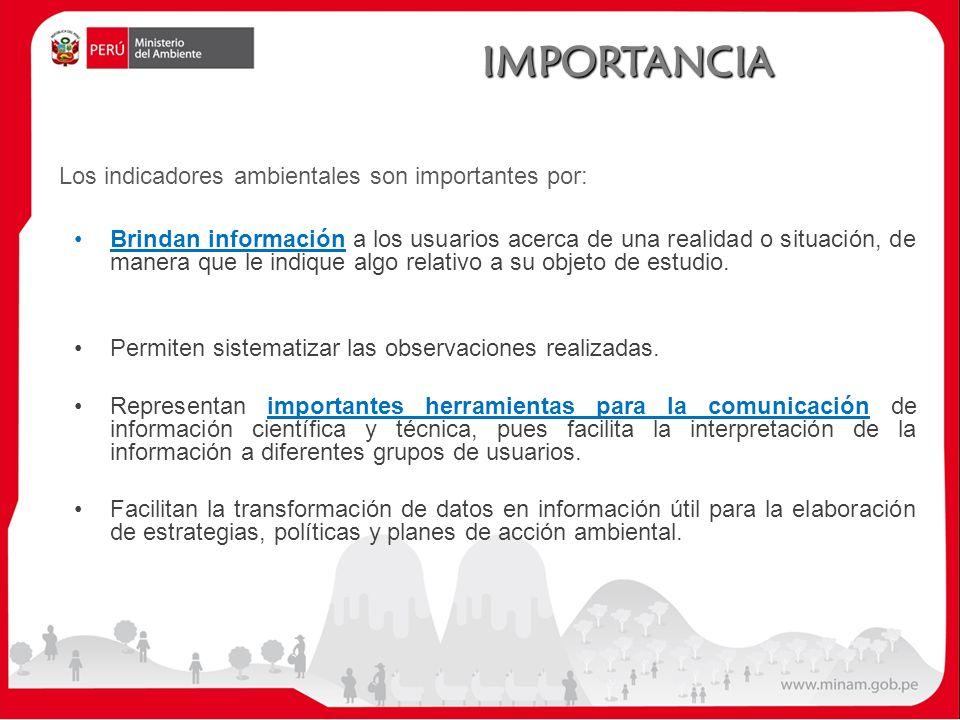 IMPORTANCIA Brindan información a los usuarios acerca de una realidad o situación, de manera que le indique algo relativo a su objeto de estudio.