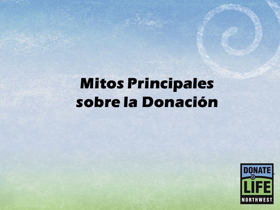 Mitos Principales sobre la Donación