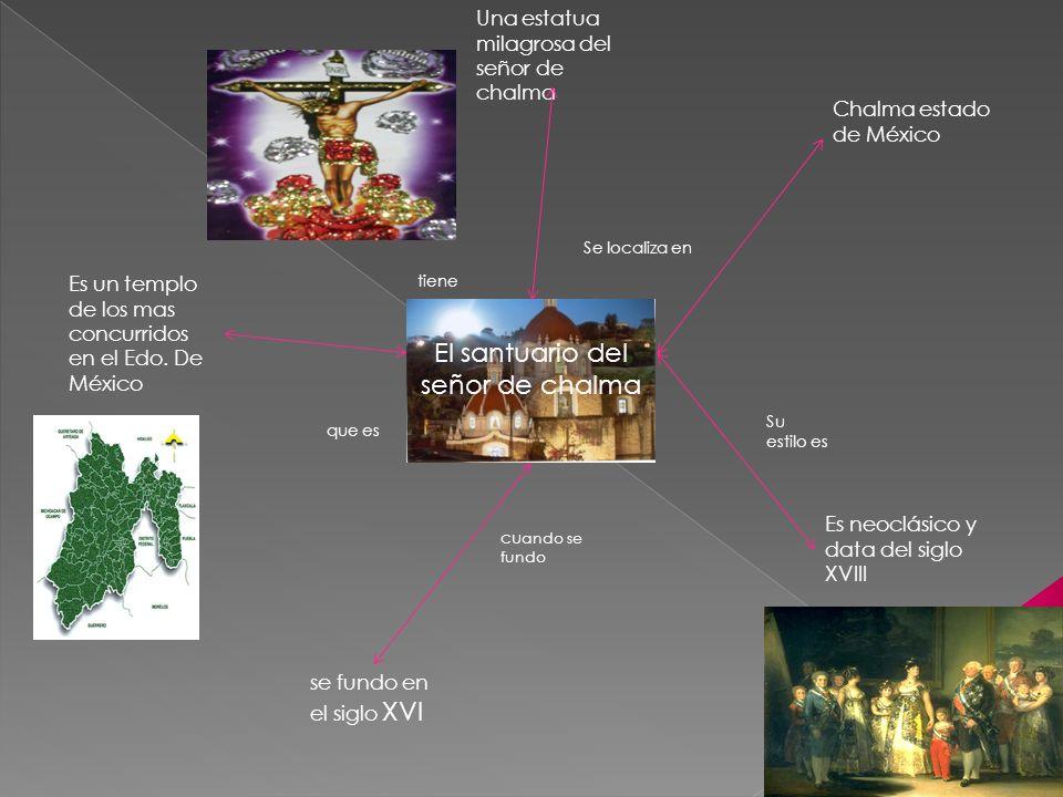 El santuario del señor de chalma cu ando se fundo Su estilo es tiene que es Una estatua milagrosa del señor de chalma Es neoclásico y data del siglo X
