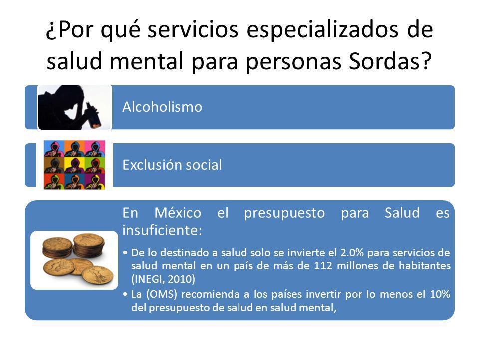 Alcoholismo Exclusión social En México el presupuesto para Salud es insuficiente: De lo destinado a salud solo se invierte el 2.0% para servicios de s
