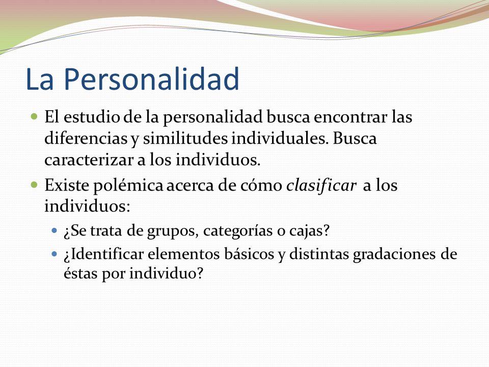 La Personalidad El estudio de la personalidad busca encontrar las diferencias y similitudes individuales.
