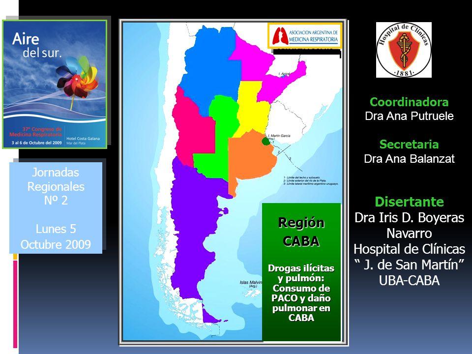 Jornadas Regionales Nº 2 Lunes 5 Octubre 2009 Jornadas Regionales Nº 2 Lunes 5 Octubre 2009 Coordinadora Dra Ana Putruele Secretaria Dra Ana Balanzat