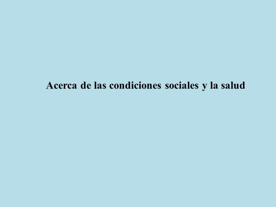 Acerca de las condiciones sociales y la salud