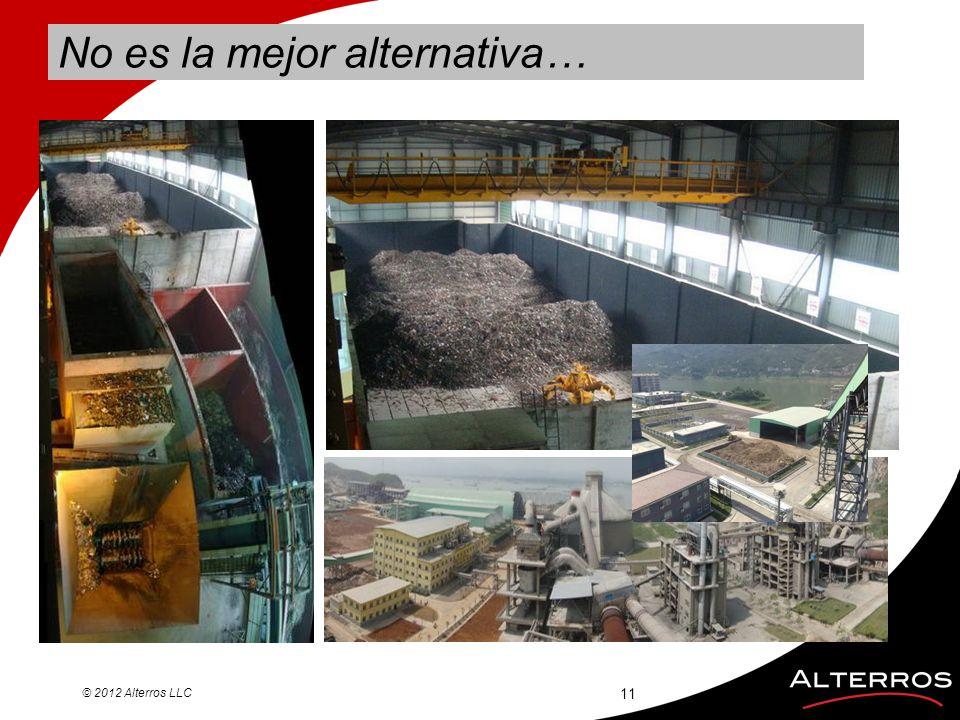 © 2012 Alterros LLC No es la mejor alternativa… 11