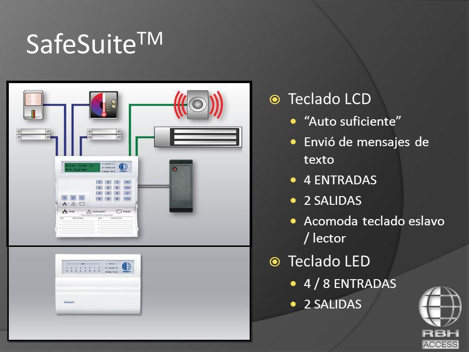 SafeSuite TM Teclado LCD Auto suficiente Envió de mensajes de texto 4 ENTRADAS 2 SALIDAS Acomoda teclado eslavo / lector Teclado LED 4 / 8 ENTRADAS 2