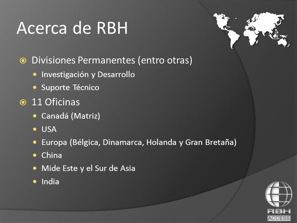 Divisiones Permanentes (entro otras) Investigación y Desarrollo Suporte Técnico 11 Oficinas Canadá (Matriz) USA Europa (Bélgica, Dinamarca, Holanda y