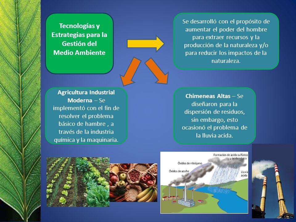 Se desarrolló con el propósito de aumentar el poder del hombre para extraer recursos y la producción de la naturaleza y/o para reducir los impactos de