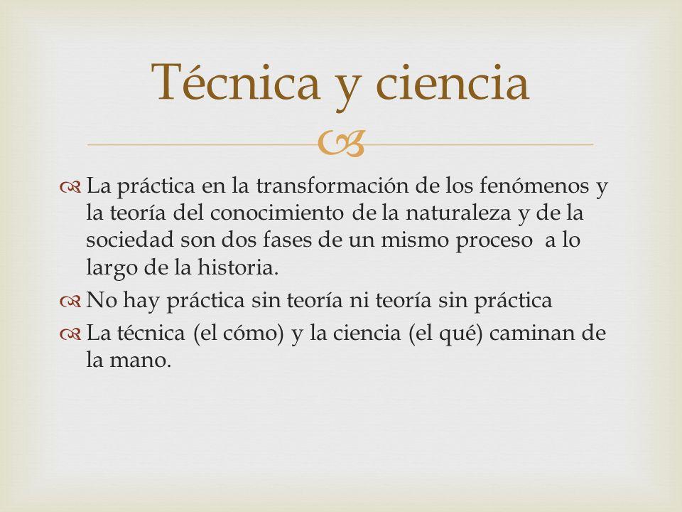 La práctica en la transformación de los fenómenos y la teoría del conocimiento de la naturaleza y de la sociedad son dos fases de un mismo proceso a l