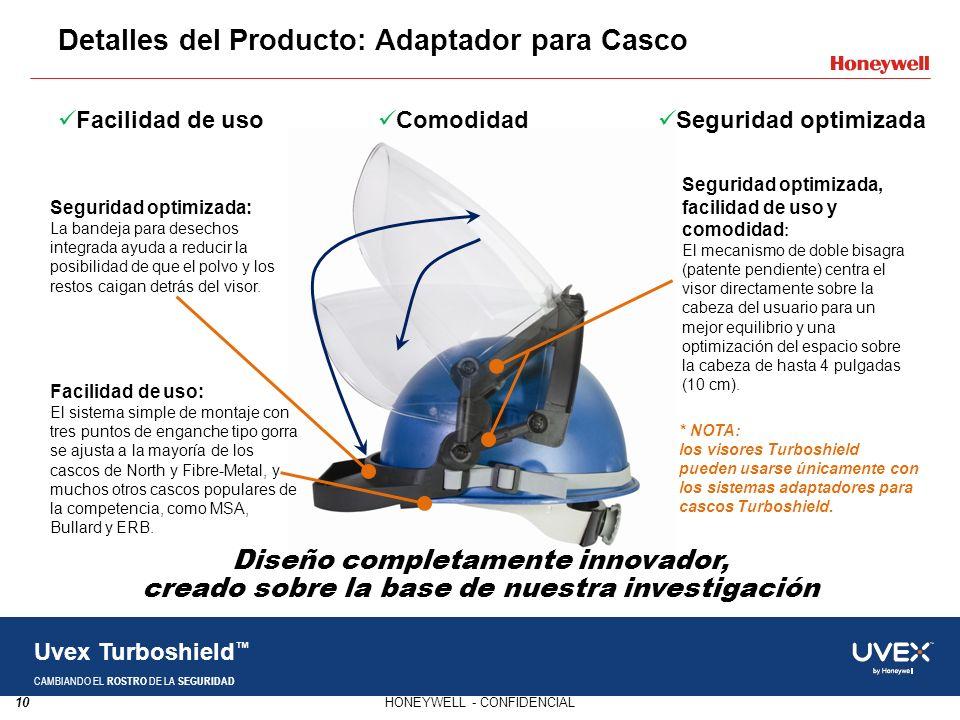 10HONEYWELL - CONFIDENCIAL Uvex Turboshield CAMBIANDO EL ROSTRO DE LA SEGURIDAD Facilidad de uso Comodidad Seguridad optimizada * NOTA: los visores Tu