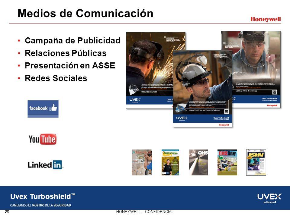 28HONEYWELL - CONFIDENCIAL Uvex Turboshield CAMBIANDO EL ROSTRO DE LA SEGURIDAD Campaña de Publicidad Relaciones Públicas Presentación en ASSE Redes S