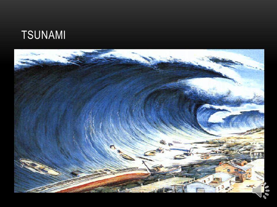 QUE HAY QUE HACER ANTE UN TSUNAMI a) Si vive en la costa y siente un terremoto lo suficientemente fuerte para agrietar muros, es posible que dentro de