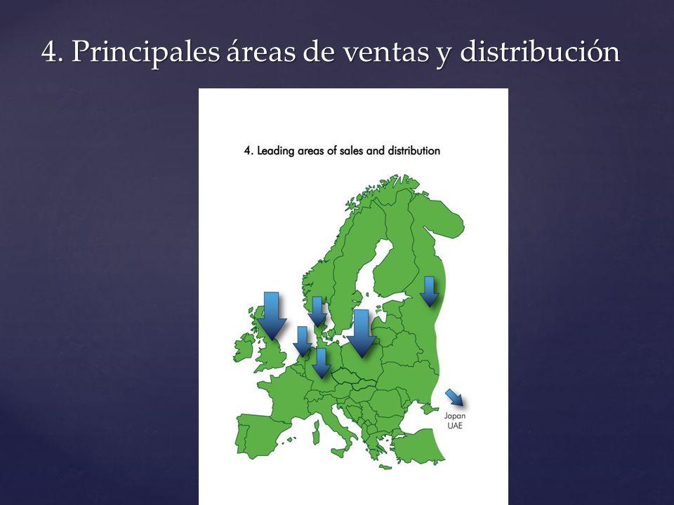 4. Principales áreas de ventas y distribución