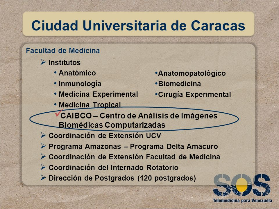 Anatomopatológico Biomedicina Cirugía Experimental Ciudad Universitaria de Caracas Facultad de Medicina Institutos Anatómico Inmunología Medicina Expe