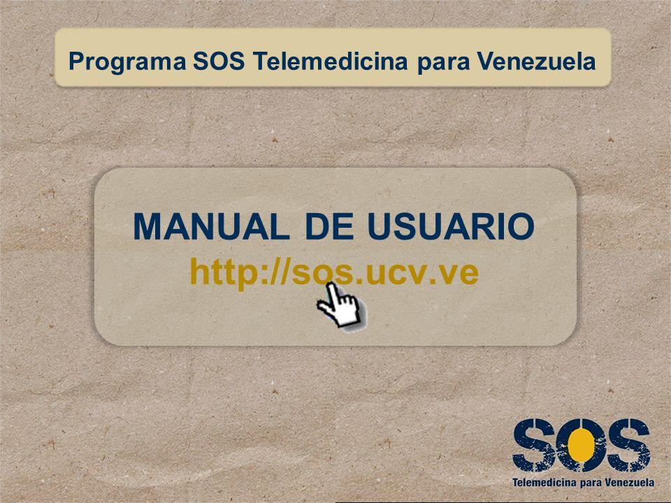 ¿Por dónde acceder? Crear cuenta de usuario Uso de la aplicación Manual de Usuario SOS Telemedicina