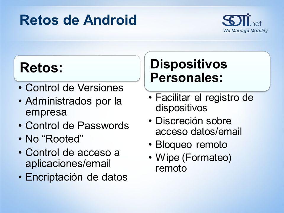 We Manage Mobility Retos de Android