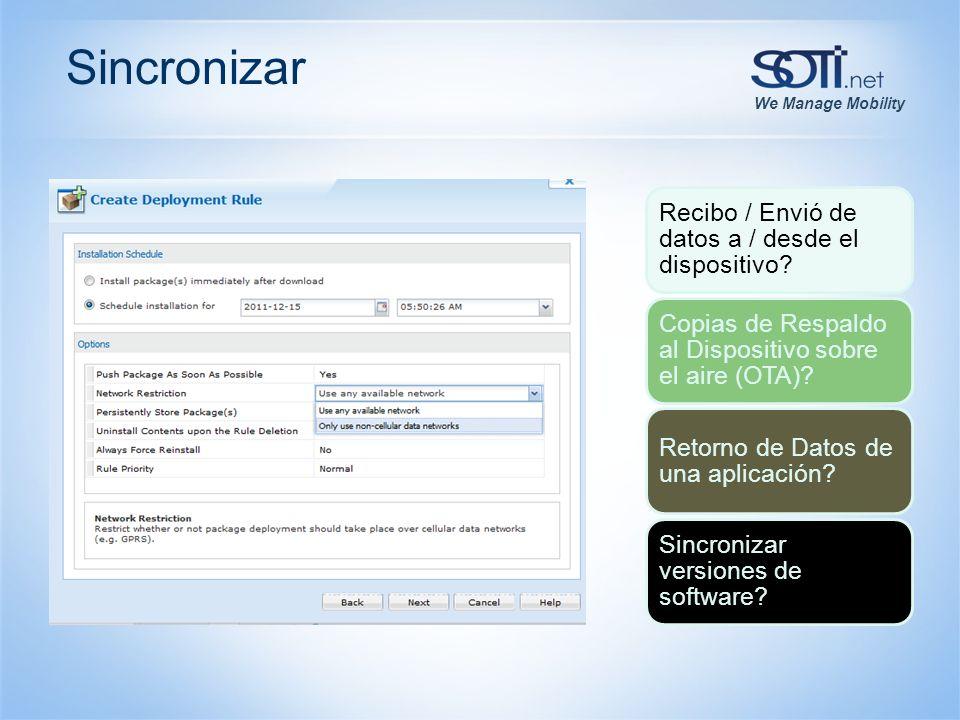 We Manage Mobility Sincronizar