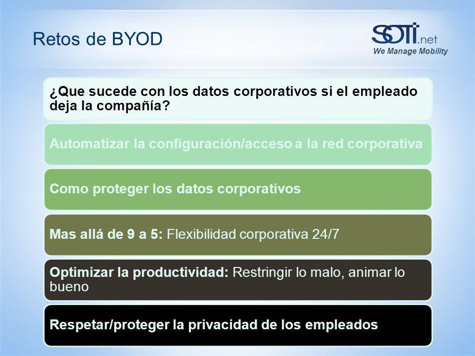 We Manage Mobility Retos de BYOD