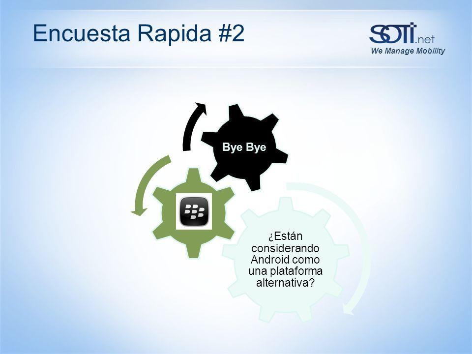 We Manage Mobility Encuesta Rapida #2