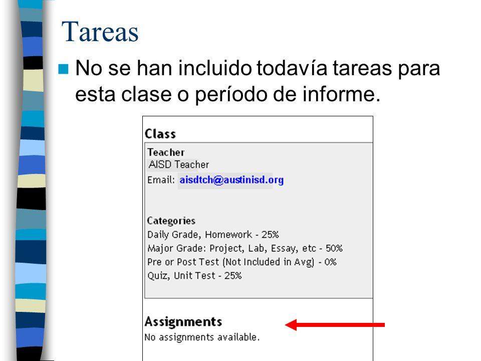 Tareas No se han incluido todavía tareas para esta clase o período de informe.