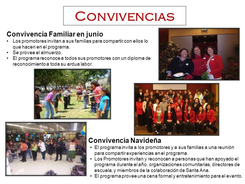 Convivencias Convivencia Familiar en junio Los promotores invitan a sus familias para compartir con ellos lo que hacen en el programa.