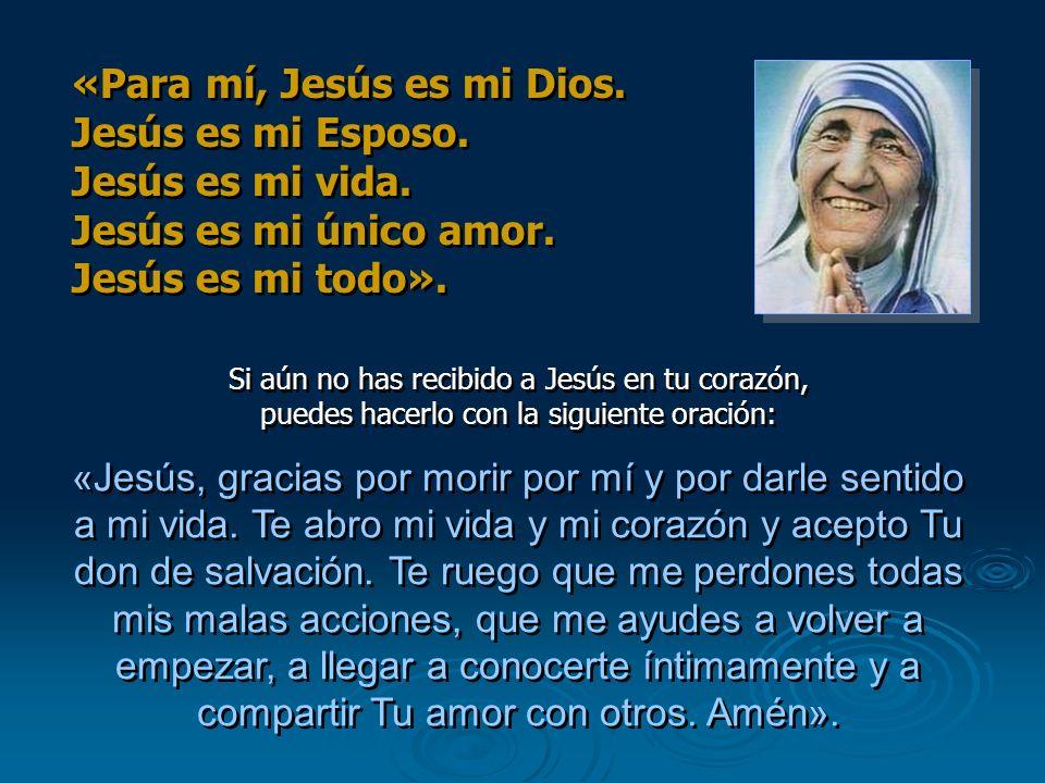 Si aún no has recibido a Jesús en tu corazón, puedes hacerlo con la siguiente oración: «Jesús, gracias por morir por mí y por darle sentido a mi vida.