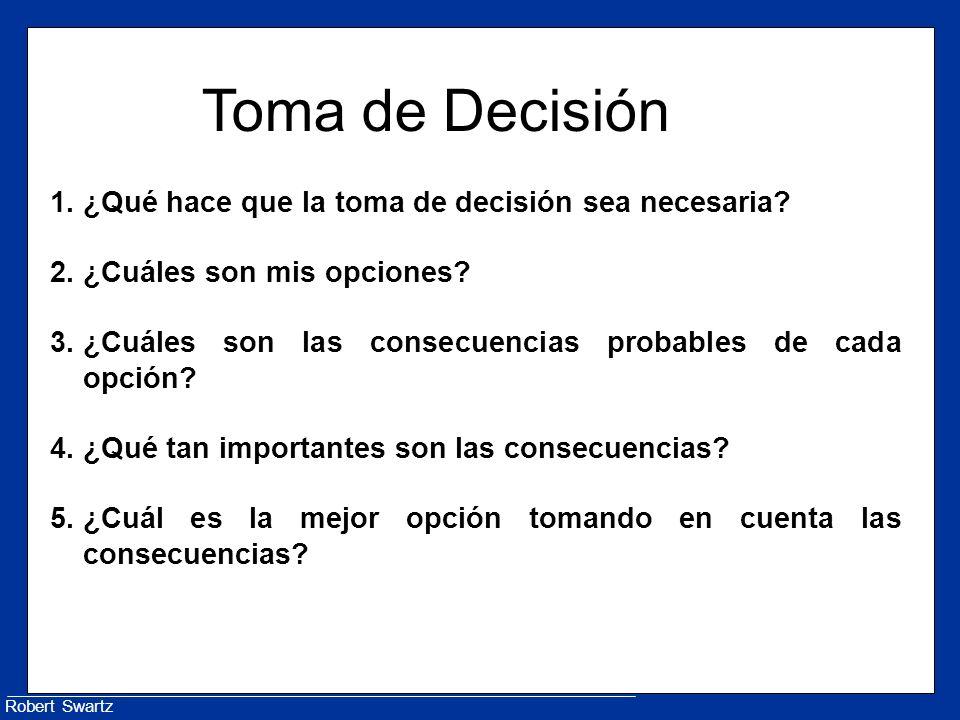 Robert Swartz Toma de Decisión 1.¿Qué hace que la toma de decisión sea necesaria.