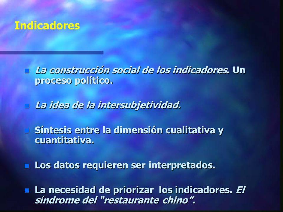 Indicadores Rastro, señal o huella que nos permite conocer los cambios de una determinada variable Definición de Indicador