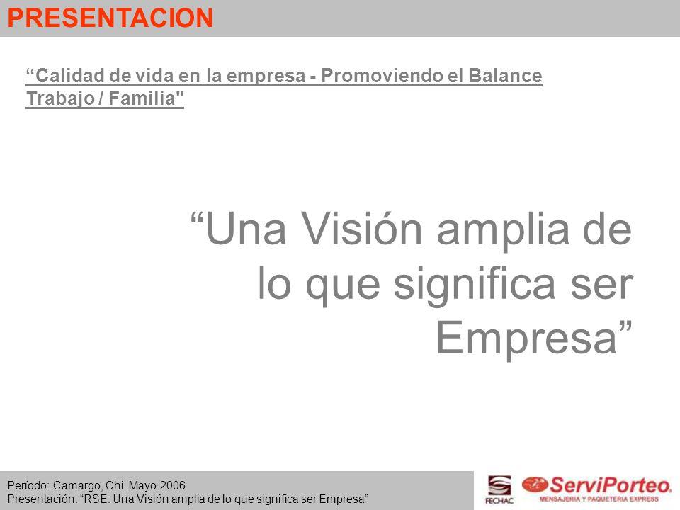 Una Visión amplia de lo que significa ser Empresa Calidad de vida en la empresa - Promoviendo el Balance Trabajo / Familia