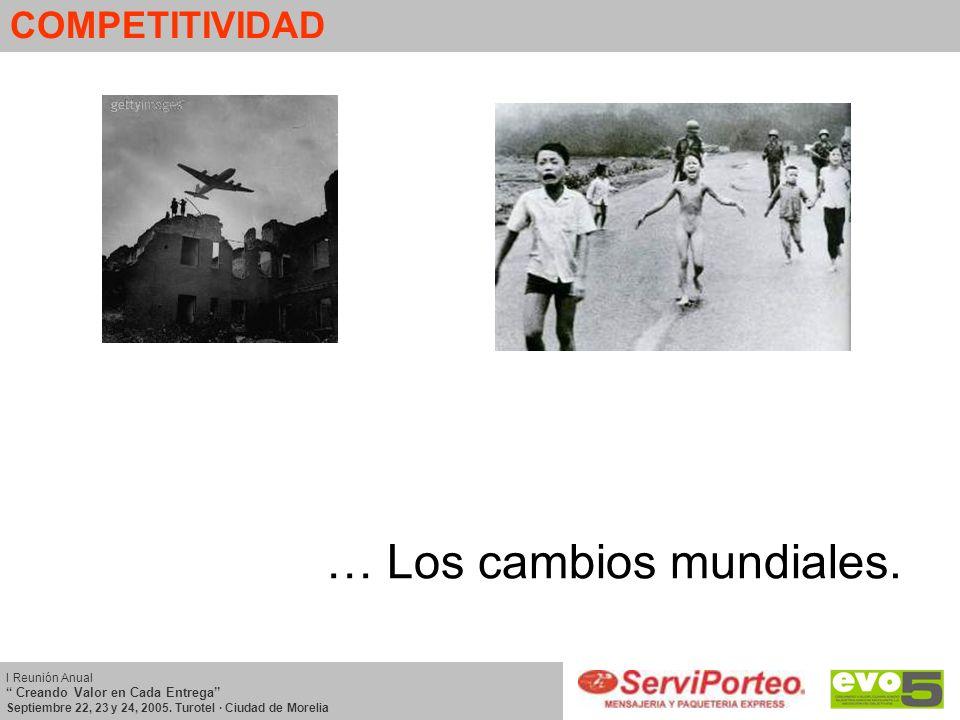 COMPETITIVIDAD I Reunión Anual Creando Valor en Cada Entrega Septiembre 22, 23 y 24, 2005. Turotel · Ciudad de Morelia … Los cambios mundiales.