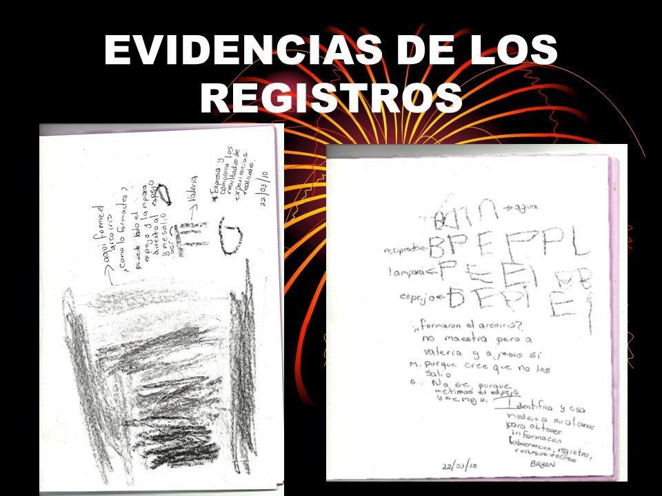 EVIDENCIAS DE LOS REGISTROS