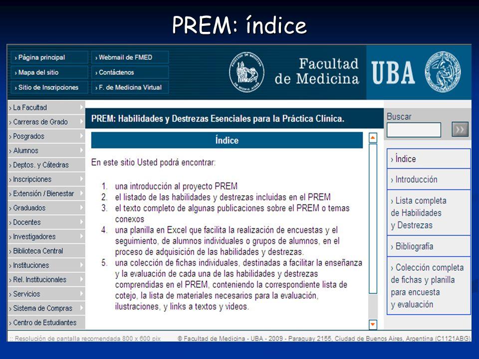 PREM: índice