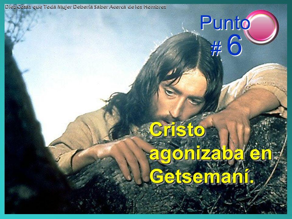 Cristo agonizaba en Getsemaní. Punto # 6 Diez Cosas que Toda Mujer Debería Saber Acerca de los Hombres