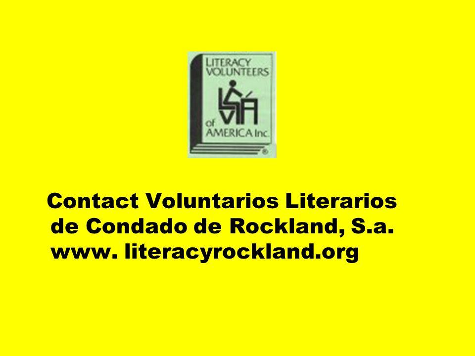 Los Voluntarios de la capacidad de leer y escribir de Condado de Rockland, S.a.